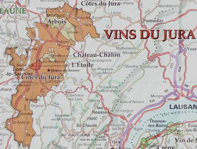 A Map of the Jura Region