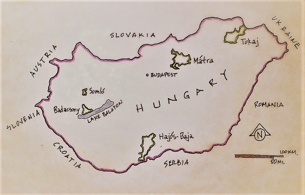 Hungary Wine Map